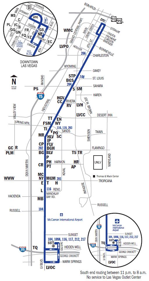 the-deuce-mapa-las-vegas-llegar